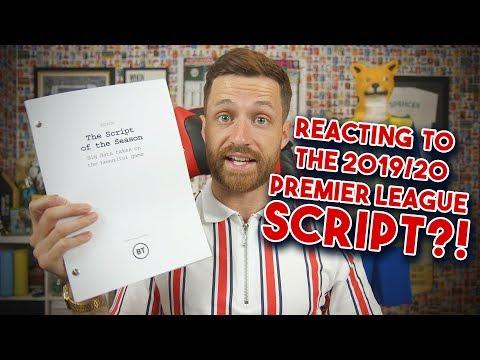 """MY REACTION TO THE 2019/20 PREMIER LEAGUE """"SCRIPT"""""""