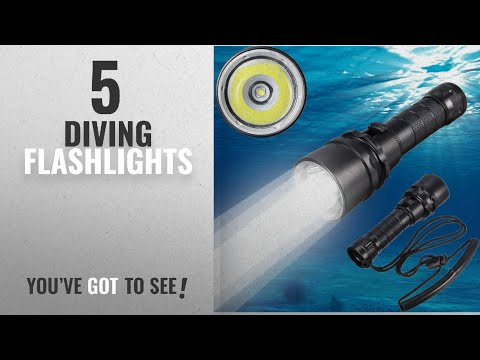 Top 5 Diving Flashlights [2018]: Goldengulf Cree XM-L2 Led Scuba Diving Flashlight Torch Underwater