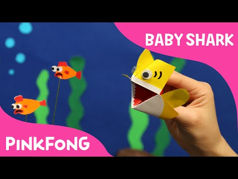 I\'m an Origami Baby Shark Puppet! | Animal Songs | PINKFONG Songs for Children