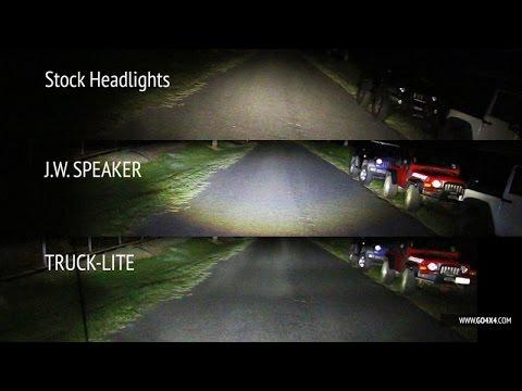 Jw Speaker Vs Truck Lite Led Vs Stock Headlights On Jeep