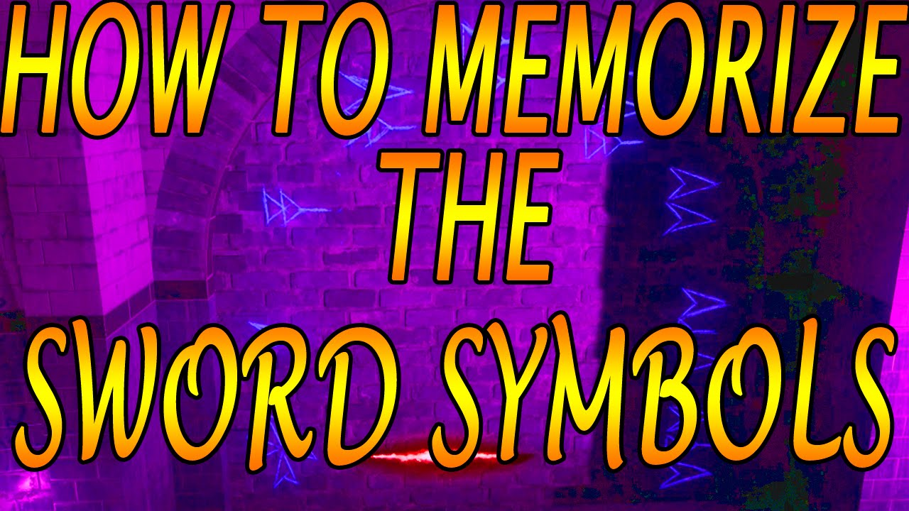 Best Method for Memorizing the Sword Symbols in Shadows of Evil: Black Ops  3 Zombies