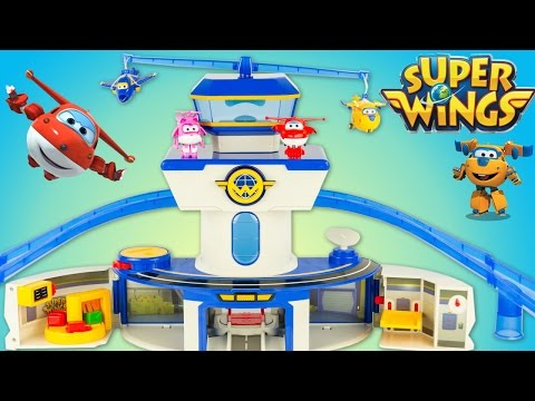 Super Wings Aéroport Quartier Général World Airport Toy Review Jouet Juguetes 출동슈퍼윙스 신제품 장난감 - 비행기