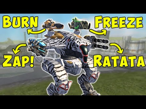 4 Mixed Weapons FREAK RAVEN Setup - War Robots Mk2 Fun Gameplay WR