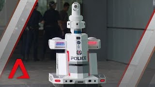 Singapore police deploy robot to patrol ASEAN Summit venue