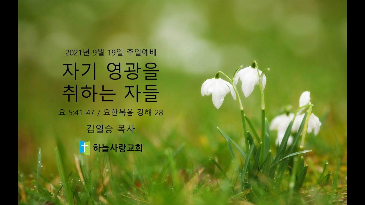 요한복음 강해 28 요 5.41-47 자기 영광을 취하는 자들