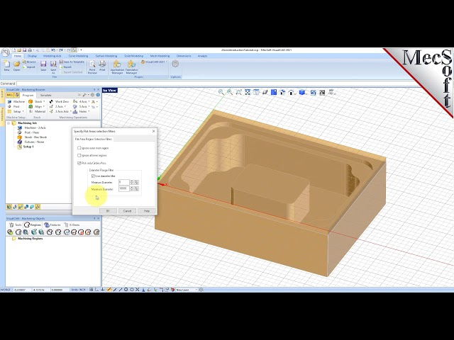 VisualCAD/CAM 2021: 2½ Axis Milling Introduction