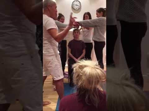Mark Ansari teaching the Inspira Yoga students about Ujjayi breathing