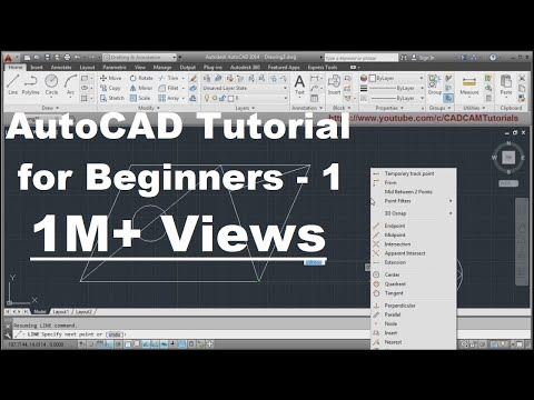 AutoCAD Tutorial for Beginners | Lesson - 1