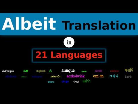 ALBEIT Translation in 21 Languages
