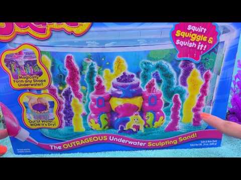 Waterproof Sand - Sqand Mermaid Castle Tank Maker Playset - Cookieswirlc Water Play Video