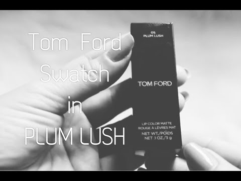 Tom Ford Matte lipstick Swatch in Plum Lush
