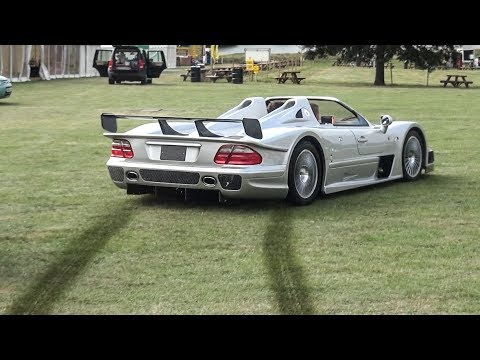Mercedes Clk Gtr Rally Stage And Crazy Powerslides Youtube