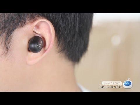 DX:QCY Q26 Mini Bluetooth Earphone Wireless Stealth Earbuds w/ MIC -Black