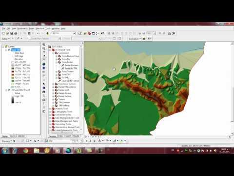 Create TIN Model From Raster File