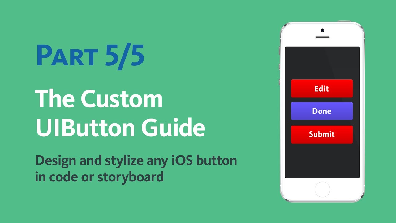 Objective c button background image - 5 5 Programmatically Create A Custom Uibutton In Code With Objective C Youtube
