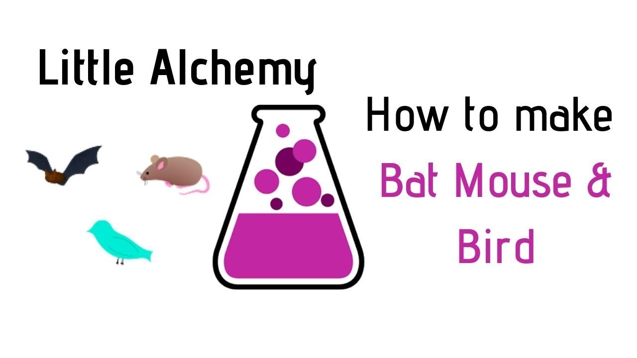 Little Alchemy How To Make Bat Mouse Bird Cheats Hints Youtube