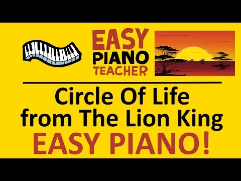 How to play Circle Of Life from the Lion King: EASY keyboard song! (Piano tutorial with note names)