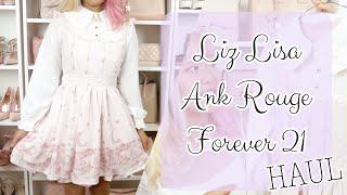 ♡ CUTE CLOTHES HAUL | Liz Lisa, Ank Rouge and Forever 21 Autumn 2018 | xsakisaki ♡