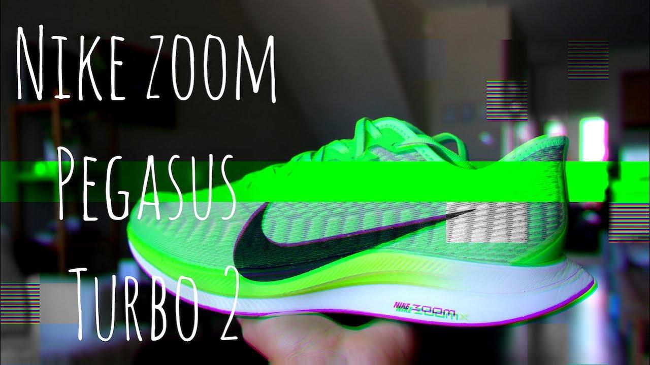 mensual Sucediendo solicitud  First Run Nike Zoom Pegasus Turbo 2 - YouTube