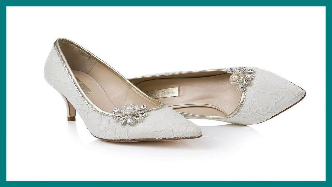 25 Kitten Heel Wedding Shoes Ideas - Wedding Shoes - YouTube 05e16df8326e