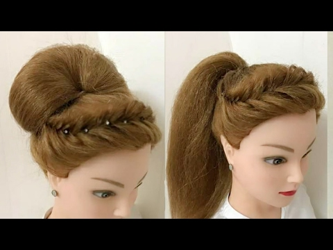 2 Awesome Hairstyles for Wedding or Party  YouTube