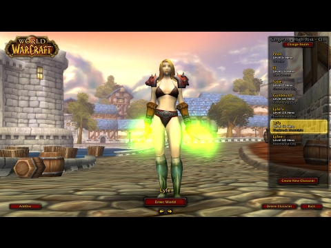 WoW Ascension   Melee Healer   BRD Dungeon /w No Items (playing naked)