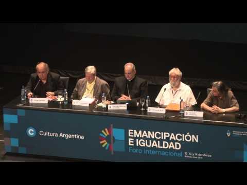 Monseñor Marcelo Sánchez Sorondo - Foro Internacional por la Emancipación e Igualdad