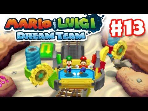 Mario & Luigi: Dream Team - Gameplay Walkthrough Part 13 - Lots More Drilling (Nintendo 3DS)