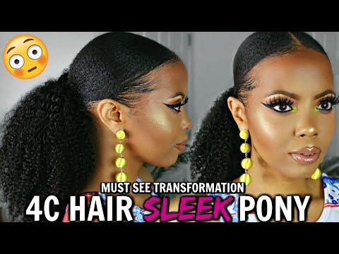 4c-natural-hair-sleek-ponytail-|style-factor-styling-gel-demo-|-how-to-slick-down-4c-hair-|tastepink