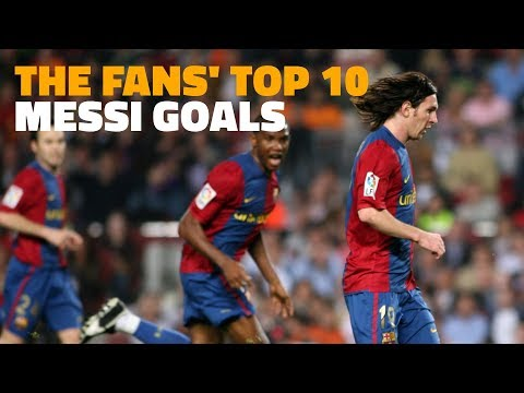 Messi's best 10 goals, according to the fans