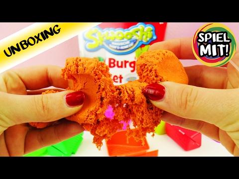 SKWOOSHI MAGISCHE SOFT KNETE BURGER SET aus Kinetic Sand und Play Doh?!