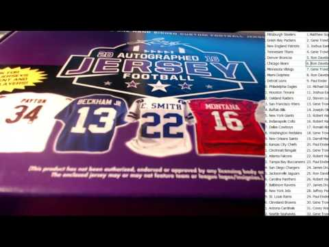4 JERSEY BREAK 2016 Leaf Autographed Football Jersey Ed ID 16LEAFJERS4B103