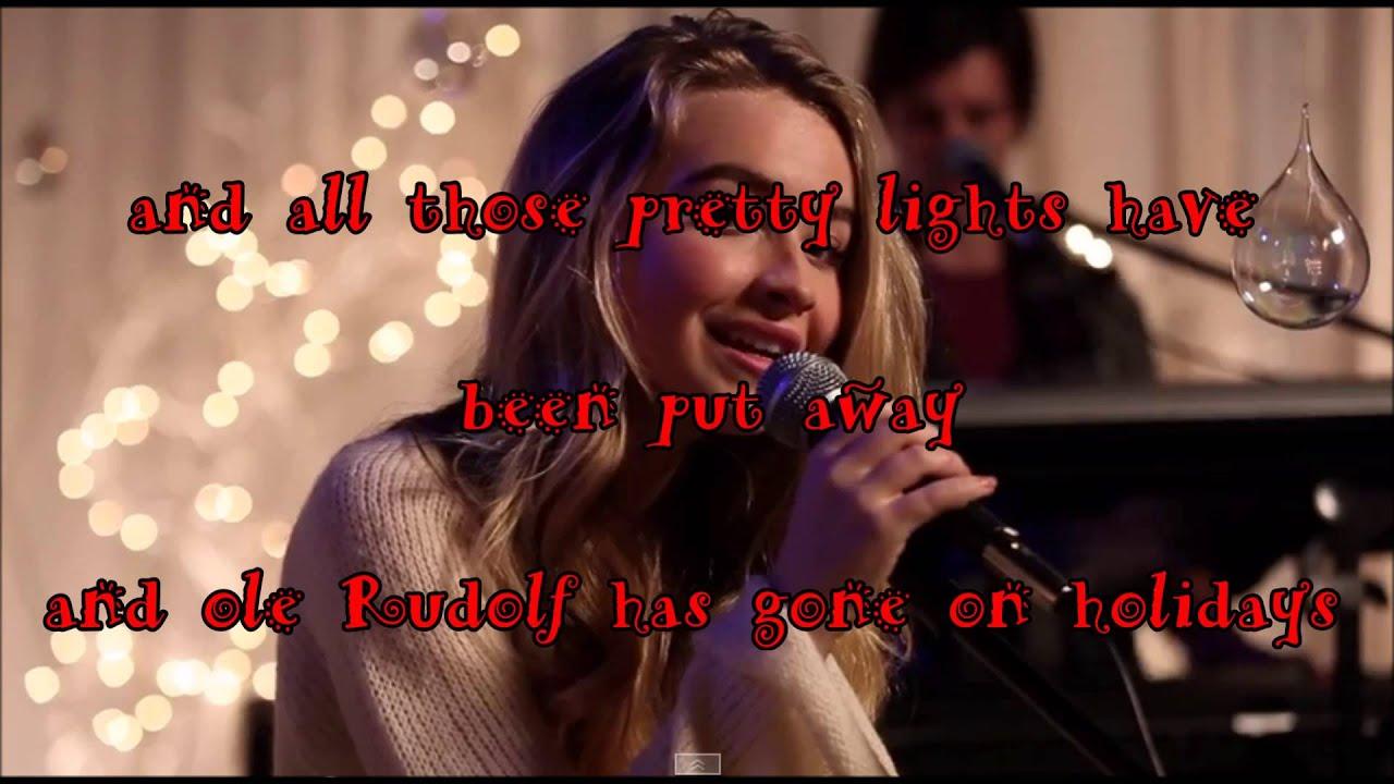 Christmas the Whole Year Round-Lyrics- Sabrina Carpenter - YouTube