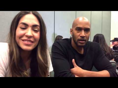 Natalia CordovaBuckley and Henry Simmons for Agents of SHIELD at Wondercon 2017!