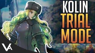 SFV - Kolin Trial Mode Combos Guide! With Joystick Camera For Street Fighter 5 Season 2