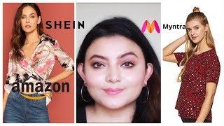 SHEIN MYNTRA AMAZON Tops Haul   Deblina Rababi