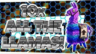 FORTNITE PvE : OPENING 10 All The lamas! - Dépenser 4000 V-Bucks!