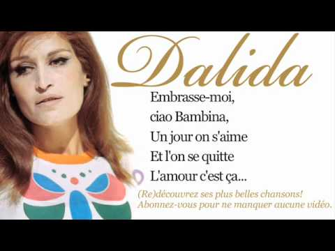 Dalida - Ciao, ciao bambina - Paroles (Lyrics)