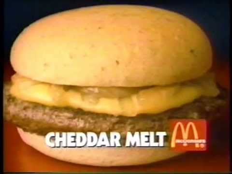 1990 mcdonald 39 s cheddar melt commercial youtube