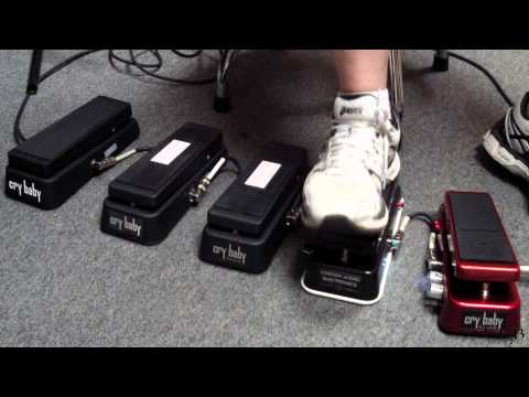 2014 Dunlop WAH Comparison  5 Crybaby Wahs in a row!