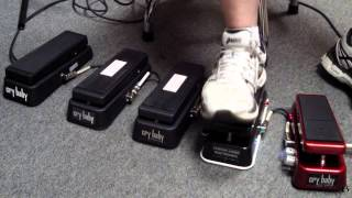 2014 Dunlop WAH Comparison - 5 Crybaby Wahs in a row!