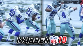 madden 19 official gameplay choosing celebrations team spike signature dance swagger ep 1