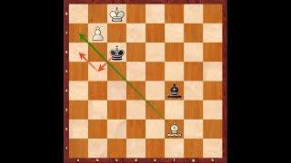 Advanced Chess Endgame - 1 (Bishop & Advanced Pawn Vs Bishop)