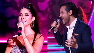 Laura Novoa y Pato Arellano se divirtieron en el cuarteto cantando
