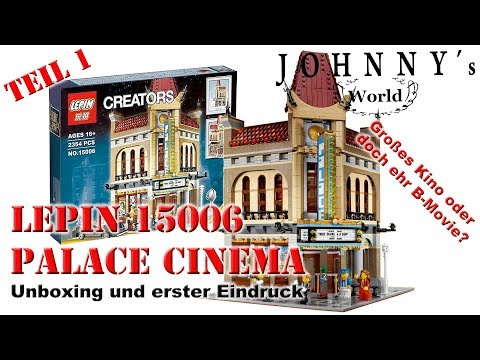 Lepin 15006 Palace Cinema - Unboxing + erster Eindruck Revie