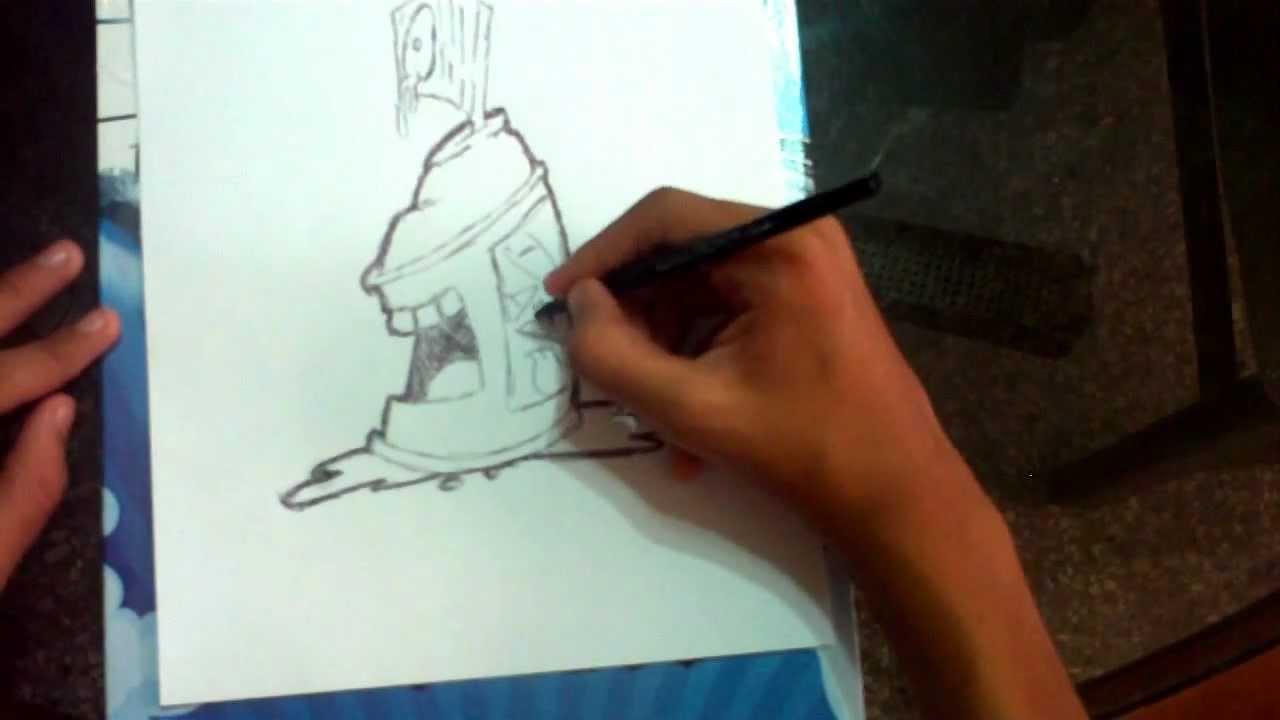 como dibujar una lata de spray  YouTube