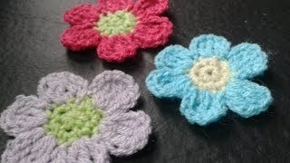 Como hacer margaritas a crochet/How to make crochet daisies