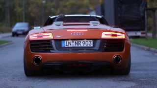 Two Audi R8 V10 in action - Full Throttle and more! HD
