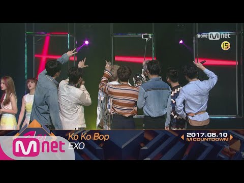 Top in 2nd of August, 'EXO' with 'Ko Ko Bop', Encore Stage! (in Full) M COUNTDOWN 170810 EP.536