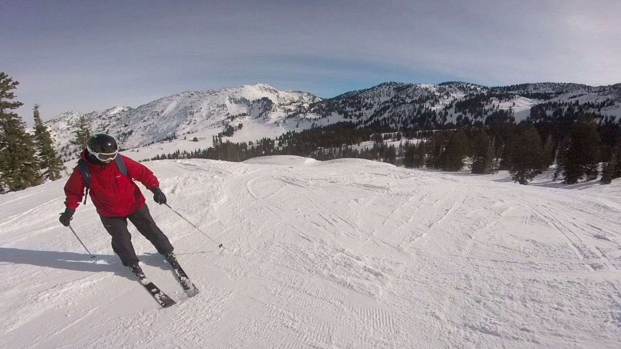alta ski resort under sugarloaf lift skiing black diamonds and blues